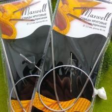 Спицы круговые 2.5/40 см (металл) Maxwell