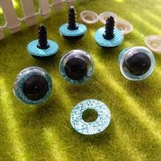 Глаза для игрушек на безопасном креплении, 16 мм (голубой)