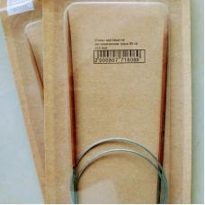 Спицы круговые 3.5/80 см (деревянные на металлическом тросе)