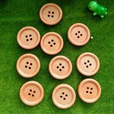 Пуговицы деревянные, 25 мм (персиковый)
