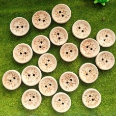 Пуговицы деревянные Цветы, 20 мм