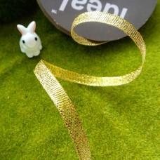 Лента металлизированная парча Ideal 6 мм (золото)