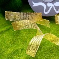 Лента металлизированная парча Ideal 12 мм (золото)