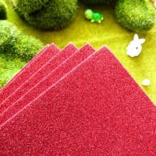 Фоамиран глиттерный 20×30 (красный)