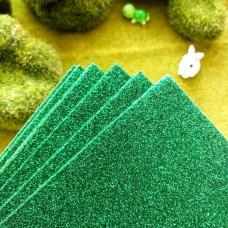 Фоамиран глиттерный 20×30 (зеленый)