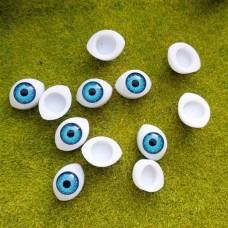 Глаза клеевые кукольные 14 мм (голубой)