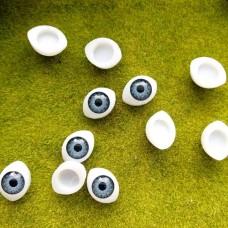 Глаза клеевые кукольные 14 мм (серый)