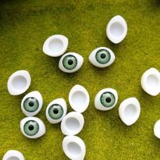 Глаза клеевые кукольные 14 мм (зеленый)