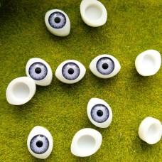 Глаза клеевые кукольные 14 мм (фиолетовый)
