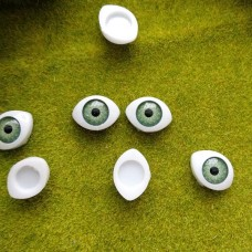 Глаза клеевые кукольные 17 мм (зеленый)