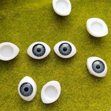 Глаза клеевые кукольные 17 мм (серый)
