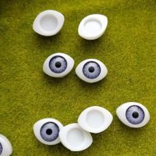 Глаза клеевые кукольные 17 мм (фиолетовый)