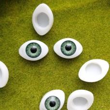 Глаза клеевые кукольные 21 мм (зеленый)