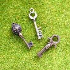 Подвеска Ключ 25-30 мм (бронза)