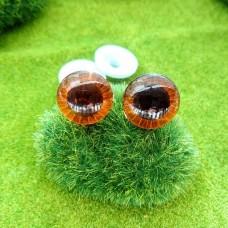 """Глаза """"живые"""", 18 мм (коричневый)"""