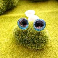 Глаза 3D, 16 мм (синий блестящий)