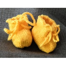 Пинетки на завязках (7 см) (желтый)
