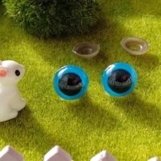 Глаза для игрушек на безопасном креплении, 14 мм (синий)