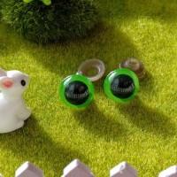 Глаза, 14 мм (зеленый) БРАК