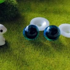 """Глаза для игрушек """"живые"""" на безопасном креплении, 16 мм (синий)"""