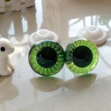 """Глаза для игрушек """"живые"""" на безопасном креплении, 20 мм (зеленый)"""