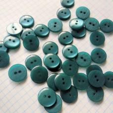 Пуговицы пластиковые круглые, 15 мм (морская волна)