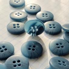 Пуговицы пластиковые круглые, 15 мм (темно-голубой)