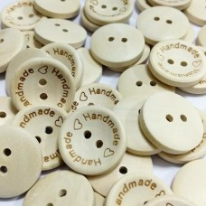 Пуговицы деревянные Handmade, 19 мм