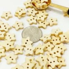 Пуговицы деревянные Звезда, 13 мм