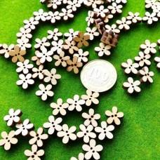 Пуговицы деревянные Ромашка, 12 мм