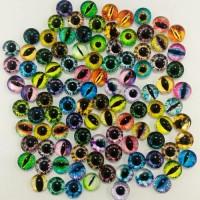 Глаза стеклянные клеевые, 6 мм (цвета по запросу)