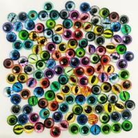 Глаза стеклянные клеевые, 8 мм (цвета по запросу)
