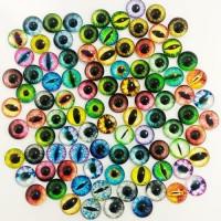 Глаза стеклянные клеевые, 10 мм (цвета по запросу)