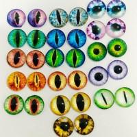 Глаза клеевые стеклянные, 12 мм (цвета по запросу)