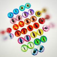 Глаза клеевые стеклянные, 15 мм (цвета по запросу)