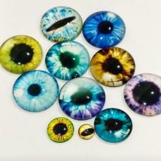Глаза клеевые стеклянные (разный диаметр, без пары)