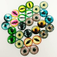 Глаза стеклянные клеевые, 18 мм (цвета по запросу)