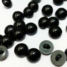 Глаза пришивные пуговицы на ножке 18 мм (черный)