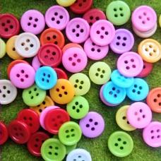 Пуговицы пластиковые круглые, 11-12 мм (цвета микс)