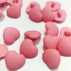 Пуговицы пластиковые Сердце 15 мм (на ножке)