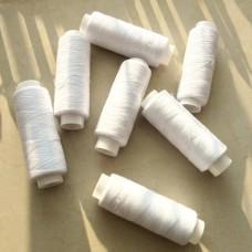 Нитки швейные бытовые (белый)