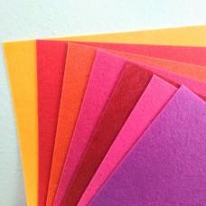 Фетр лист А4 (цвета микс)