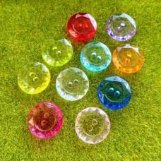 Пуговицы пластиковые круглые граненые, 11 мм (цвета микс)