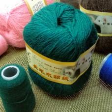 Норка длинноворсовая 51 (темно-зеленый)