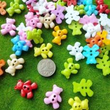 Пуговицы пластиковые Медвежонок, 20 мм (цвета микс)