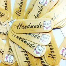 """Бирка """"Handmade"""" Кошка 52×18 мм (картон)"""