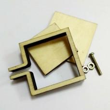 Деревянные мини-пяльцы для вышивания крестиком/бисером, 3.6×3 см