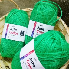 Jute Color Цветной джут зеленый