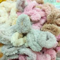 Puffy Fine Color 6033 (розовый-беж-серый)
