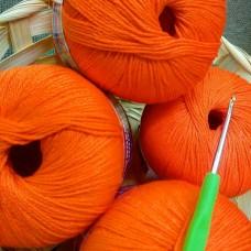 Мерсеризованный хлопок оранжевый